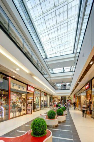 "Shopping mall ""Galeria Echo"", interior design, Kielce"