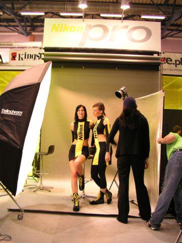 Stoisko dla Nikon Polska, targi Foto Video Łódź 2005